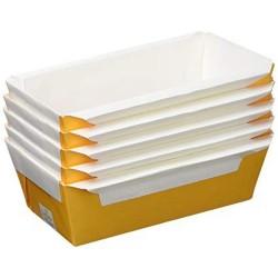 Molde de papel desechable para bizcochos, interior antiadherente, ideal para horno.