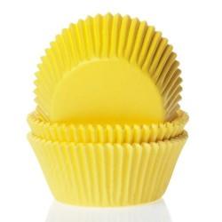MINI CAPSULAS AMARILLAS, house of marie, mini cupcakes, magadalenas
