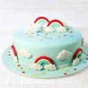 CORTANTE ARCOIRIS y NUBE, molde arcoiris y nube, galletas arcoiris