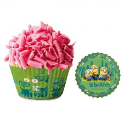 Capsulas magdalenas, cupcakes Minions Dekora x50 uds.