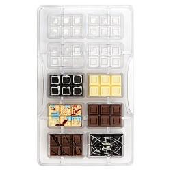 MOLDE POLICARBONATO Decora TABLETA MINI CHOCOLATE, bombones chocolate