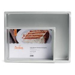 MOLDE RECTANGULAR 20x30 Decora, molde bizcochos y tartas