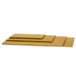 BASE RECTANGULAR Decora, base tartas dorada