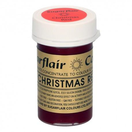 COLORANTE Sugarflair ROJO NAVIDAD CHRISTMAS RED