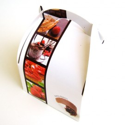 CAJA CUPCAKE BLANCA, caja galletas, caja magdalena