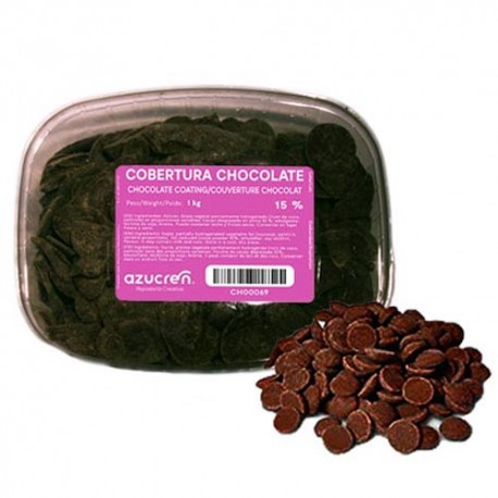 COBERTURA CHOCOLATE NEGRO Azucren TARRINA 1 Kg.
