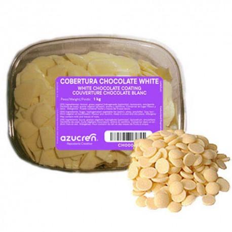 COBERTURA CHOCOLATE BLANCO Azucren TARRINA 1 Kg.