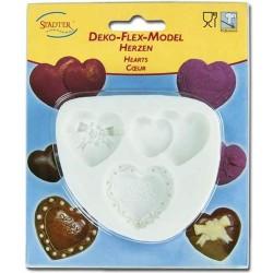 MOLDE SILICONA Städter CORAZON, molde bombones, molde fondant chocolate