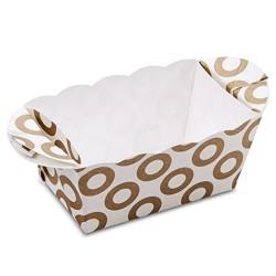 Molde de papel desechable para hornear bizcochos, molde rectangular de papel, stadter