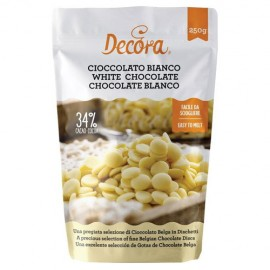 GOTAS de CHOCOLATE BLANCO 250 g.