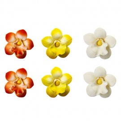 Flores de azúcar Orquídeas x 30 u.