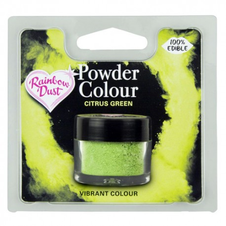 COLORANTE POLVO VERDE CITRICO Rainbow Dust