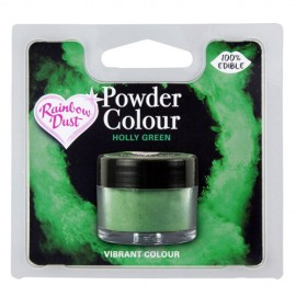 COLORANTE POLVO Rainbow Dust VERDE HOLLY GREEN