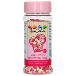Sprinkles mini corazones, FunCakes, decoracion azucar comestible