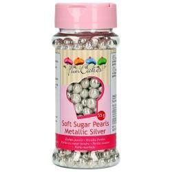 PERLAS BLANDAS METALICAS PLATA, Funcakes, perlas comestibles
