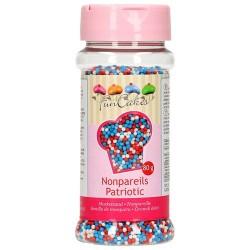 Perlitas Mix Azul, blanco, rojo 80 g