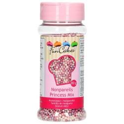 Perlitas de azúcar FunCakes, colores rosa, blanco, purpura. Mix Princesa