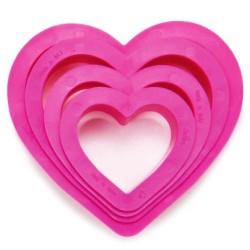 CORTANTES Decora CORAZON LISO, galletas forma corazon