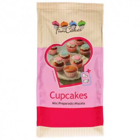 Preparado Cupcakes 1 kg. Fun Cakes. Mezcla para magdalenas.