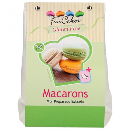 PREPARADO MACARONS SIN GLUTEN 400 grs. FunCakes