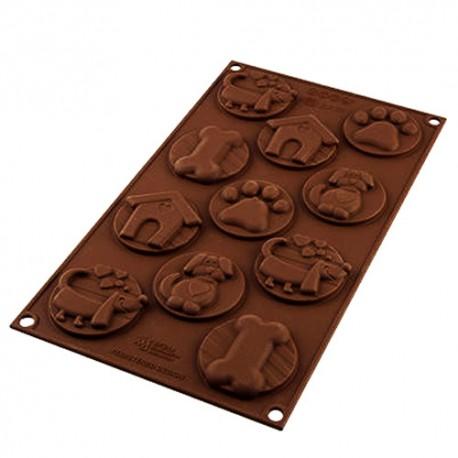 MOLDE SILICONA bombones chocolate Silikomart, bombones perro mascota