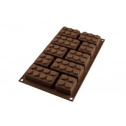 MOLDE SILICONA bombones chocolate Silikomart, bombones bloques lego