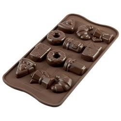 MOLDE SILICONA Silikomart BUENOS DIAS, bombones de chocolate