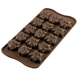 MOLDE SILICONA Silikomart BUHOS, bombones de chocolate