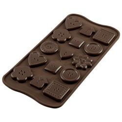 MOLDE SILICONA Silikomart BOTONES, bombones de chocolate