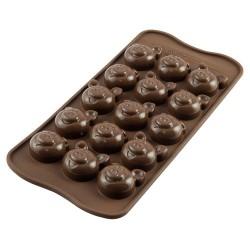 MOLDE SILICONA Silikomart CERDITOS, bombones de chocolate