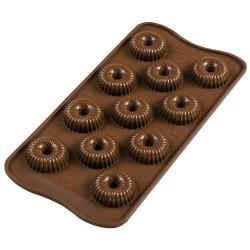 MOLDE SILICONA Silikomart CORONAS, bombones chocolate