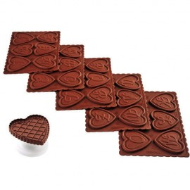 Set galletas san valentin Silikomart, cortante corazon, moldes silicona con abecedario, galletas chocolate