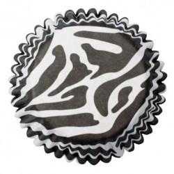CAPSULAS Culpitt CEBRA blanco y negro, magdalenas y cupcakes de cebra