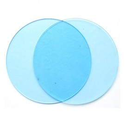 DISCOS para BORDES PERFECTOS, disco redondo metacrilato transparente