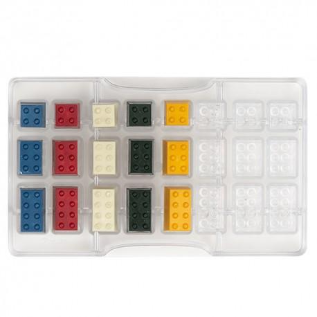 MOLDE POLICARBONATO Decora BLOQUE LEGO, bombones chocolate