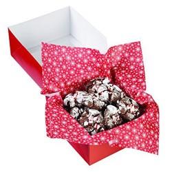 Hojas de papel para envolver galletas y dulces, envoltorios Navidad, Wilton