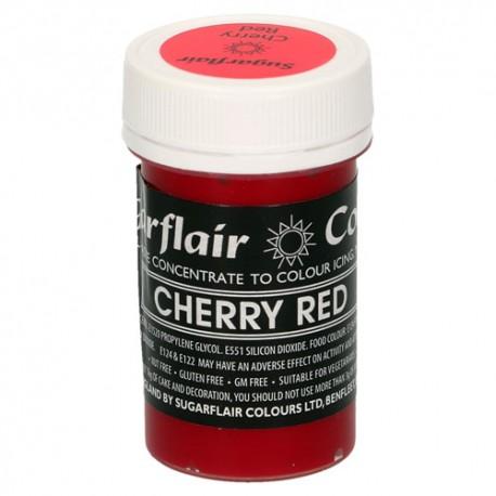 Colorante Sugarflair rojo cereza, cherry red, colorante fondat
