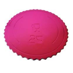 Base redonda rizada FUCSIA 20 cm.