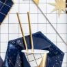 Pajitas de papel para fiestas, color oro
