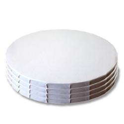 BASE CARTON REDONDA BLANCA, bases tarta