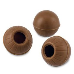 ESFERAS HUECAS de CHOCOLATE con LECHE para BOMBONES