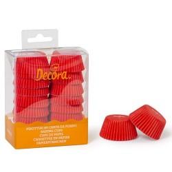 Mini cápsulas rojas para mini magdalenas