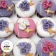 Cupcakes Comunión con rosas