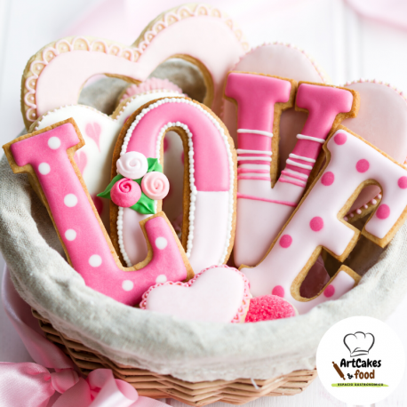 Galletas decoradas con Glasa LOVE