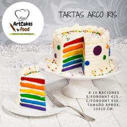 TARTA ARCO IRIS 8-10 raciones