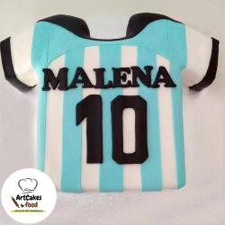 Tarta camiseta de fútbol Argentina