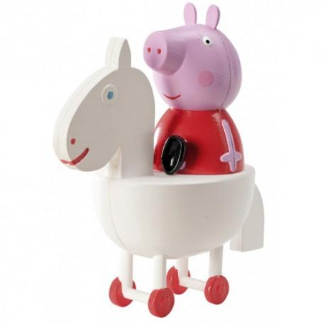 Figura de plastico Peppa Pig, decoracion de tartas