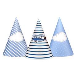 GORROS FIESTA AVIONETA NUBES, sombreros fiestas cumpleaños