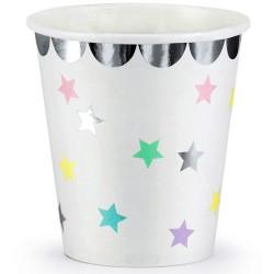 VASOS ESTRELLAS UNICORNIO, vasos de papel fiesta de cumpleaños