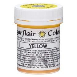 COLORANTE para CHOCOLATE Sugarflair AMARILLO, colorante liposoluble